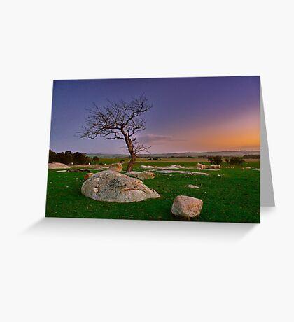 """Winter Twilight At The Rocks"" Greeting Card"