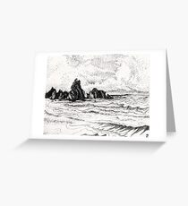 view from yachats Greeting Card