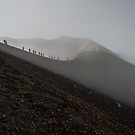 Walking on the edge of the crater by Andrea Rapisarda