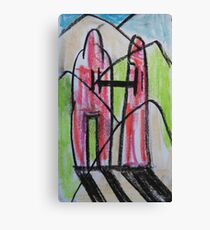 Two figures, enjoying a walk Canvas Print