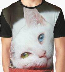 Charlie The White Pussy Cat Graphic T-Shirt