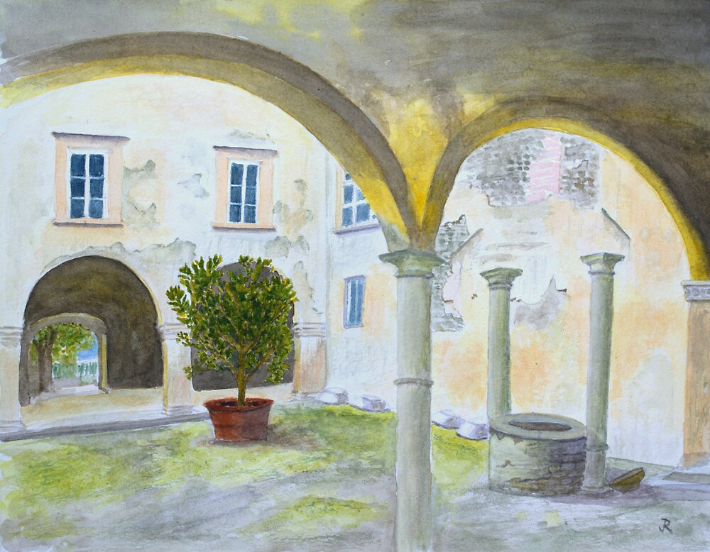 Bishop's Palace, Lucca by John Rees. by HurstPainters