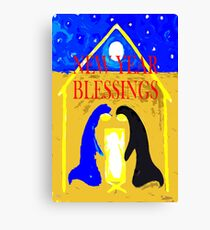 NEW YEAR BLESSINGS Canvas Print