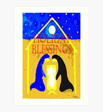 HOLIDAY BLESSINGS Art Print