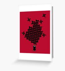 Ninja Tesselations Greeting Card