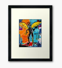 BASQUIAT ANGEL BY AUGUSTO SANCHEZ Framed Print