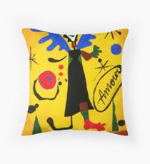 Joan Miro Angel by Augusto Sanchez Throw Pillow