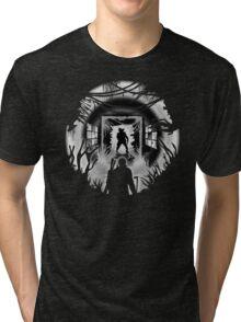 Bloater encounter Black & White Tri-blend T-Shirt