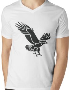 Black And White Flaying Eagle Drawing T-Shirt