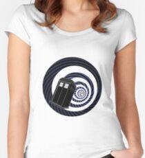 TARDIS Mod Vortex Women's Fitted Scoop T-Shirt