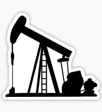 Oil Crane Pump Jack Sticker