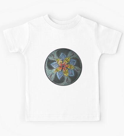 Zen Doodle #3 floral design Kids Clothes