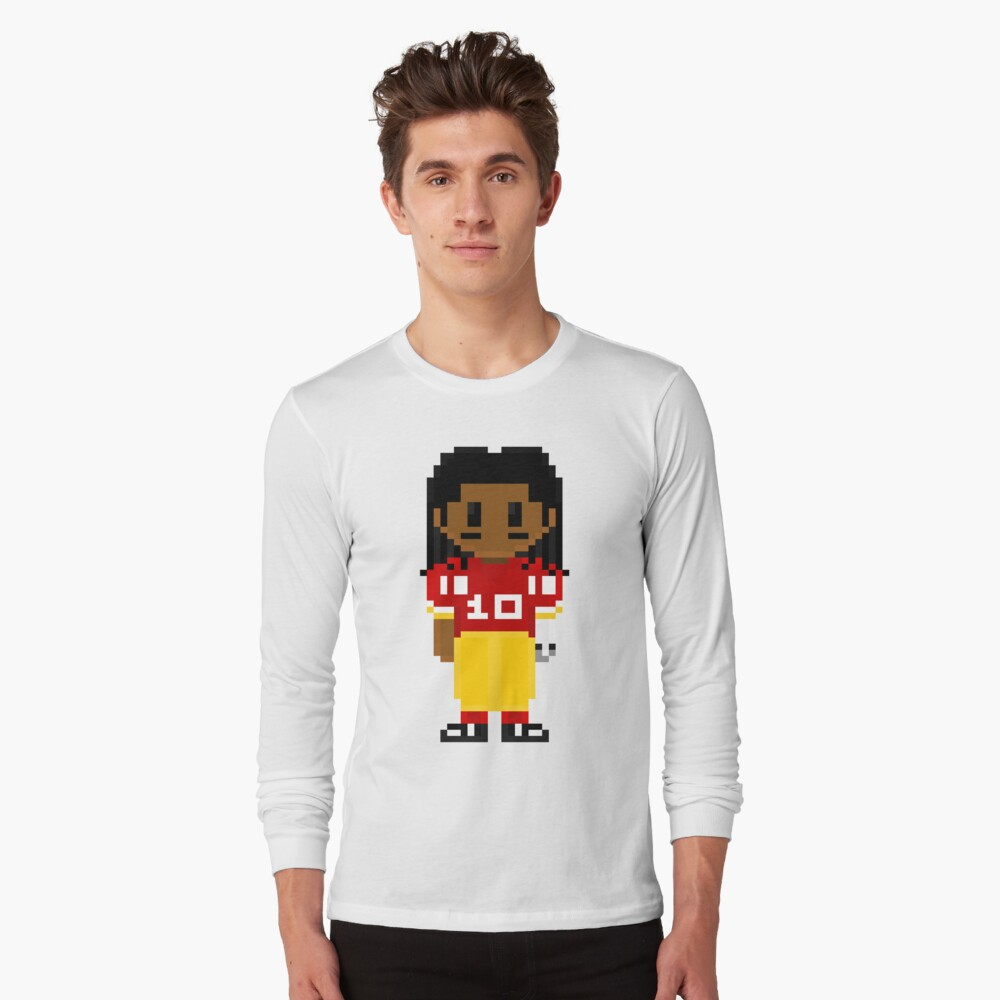 Robert Griffin III Full Body 8-Bit 3nigma Long Sleeve T-Shirt Front