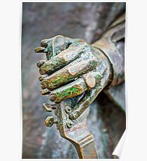 The hand of Stevie Ray Poster