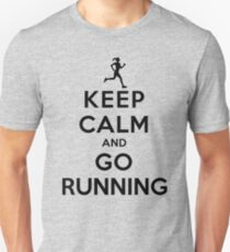 Keep Calm and Go Running (LS/Female) Slim Fit T-Shirt