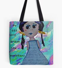 Odd Girl (with text) Tote Bag