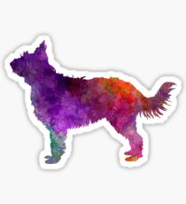 Picardy Sheepdog in watercolor Sticker