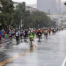 2011 LA MARATHON RUNNING IN THE RAIN  by Rebecca Dru