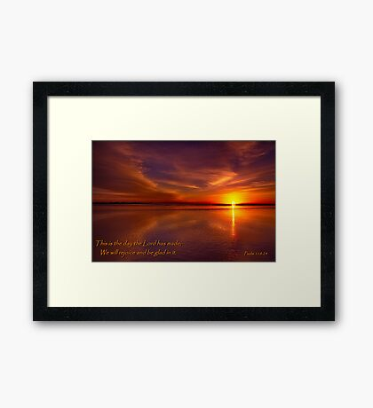 """""""This Is The Day"""" Framed Print"""