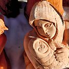 Pottery Fair Virgin Mary with Infant Jesus by ivDAnu