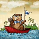 Beaver on a Trip by Rencha