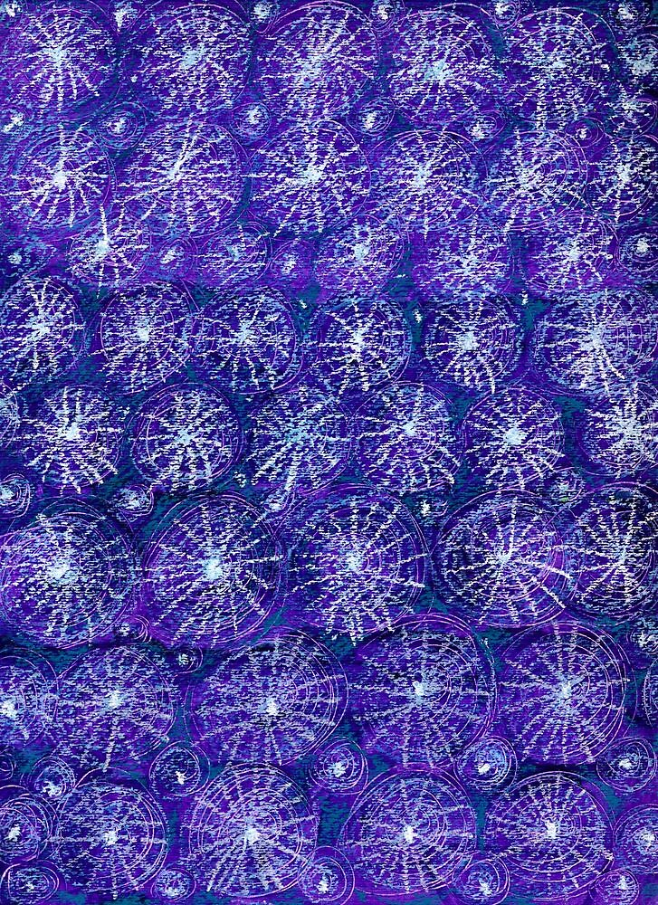 Starry Night Handmade Abstract Background by ivDAnu