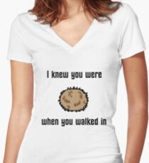 I Knew You Were Tribble Women's Fitted V-Neck T-Shirt
