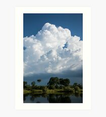 Zambezi Storm Clouds Art Print