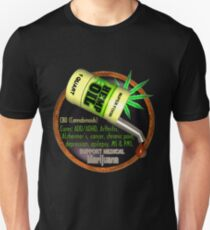 Hemp Oil cures by valxart  learn truth about use of hemp oil to cure illness and pains. Unisex T-Shirt