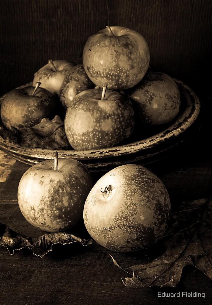 Apple Still Life B/W by Edward Fielding