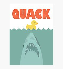 Jaws Rubber Duck 'Quack'  Photographic Print
