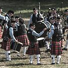 Hanging Out With Friends - A Bagpipe Band by Daphne Eze