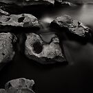 Rocks and Water (River Tees, Barnard Castle) by PaulBradley