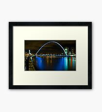 Millenium bridge across River Tyne, newcastle upon tyne  Framed Print