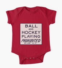 Ball and Hockey Playing Prohibited One Piece - Short Sleeve