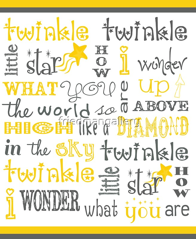 Quot twinkle little star poster posters by