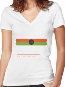Sherbourne 1966 station Women's Fitted V-Neck T-Shirt