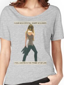 Crystal Clear, Knife Thin Women's Relaxed Fit T-Shirt