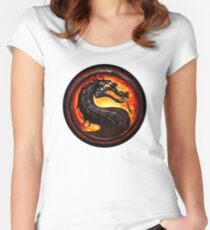 Mortal Kombat logo Women's Fitted Scoop T-Shirt