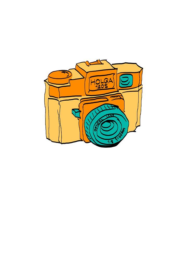 Colorful Holga Camera Sketch by strayfoto