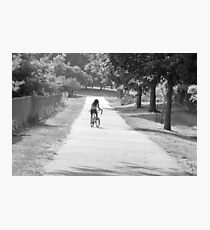 Bicycling girl Photographic Print