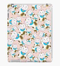 Maneki-neko good luck cat pattern iPad Case/Skin