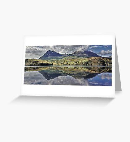 Quinag Reflecting, Sutherland, Scotland Greeting Card