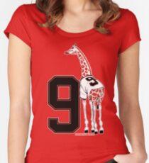 Belt Giraffe (Number Version) Women's Fitted Scoop T-Shirt