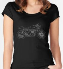 Thruxton in white Women's Fitted Scoop T-Shirt