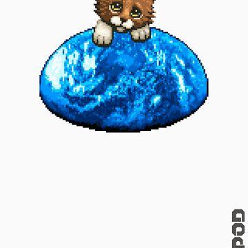 AQUA KITTY - sad kitty by Tikipod
