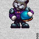 AQUA KITTY - Pilot 2 large by Tikipod