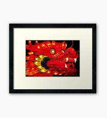 Chinese Dragon  Lantern Framed Print