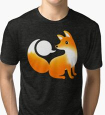WHAT DOES A FOX SAY? Tri-blend T-Shirt