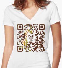 Muriel ASCII Women's Fitted V-Neck T-Shirt